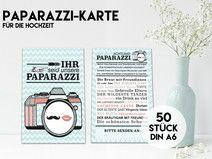 50 PAPARAZZI KARTEN für Eure Hochzeit MINT