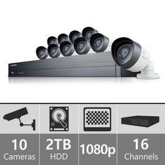 Sdh C75080 Samsung 16 Channel 1080p Hd 2tb Security