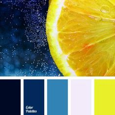 Yellow And Blue Hues Color Palettes Schemes Three Combinations