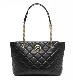 MICHAEL Michael Kors Large Fulton Quilted Tote Black