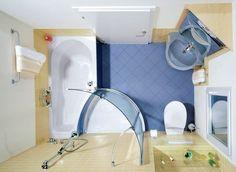 Great idea for a tiny bathroom