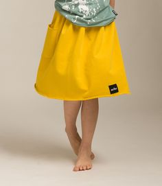 Large pocket skirt Skirts With Pockets, Midi Skirt, Kids Fashion, Ballet Skirt, Yellow, Fun, Midi Skirts, Tutu, Junior Fashion
