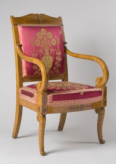 Armchair Jean-Jacques Werner, French (born Switzerland), 1791 - 1849 Geography: Made in France, Europe Date: c. 1825-30 Medium: Solid elm with beechwood veneer and purpleheart inlay