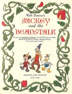 Vintage Disney Book Micky Mouse Walt Disney 1947 Grant Campbell