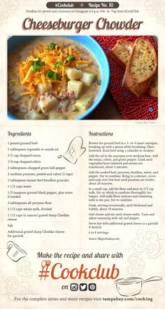 #CookClub recipe No. 10: Cheeseburger Chowder