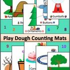 Play doh Counting Mats