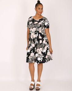 Sienna Couture Blütenkleid Große Größen-Übergröße-Plus Size-Kleid