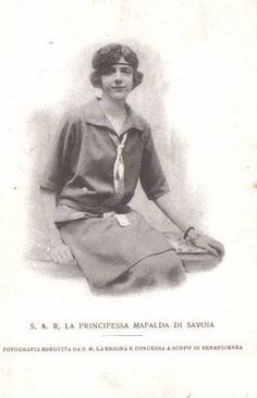 Principessa Mafalda di Savoia, Princess of Italy #TuscanyAgriturismoGiratola