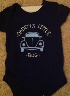 VW beetle onsie. $13.00, via Etsy.