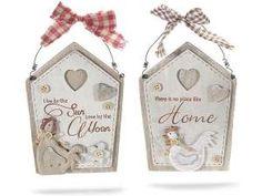 Fuori porta in legno a casetta con gallo - cm13x18H(c/cordino20,5) Per info: tuttoweb2001@libero.it