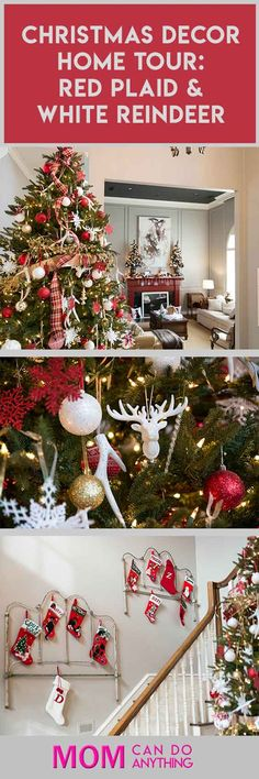 Love the red and white color combination. And those reindeer are the perfect Christmas décor.