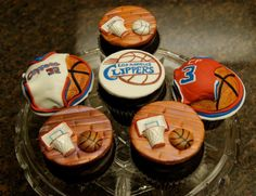 LA Clippers Cupcakes by BlakeyCakes