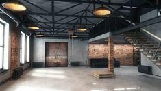 Warehouse Living, Warehouse Home, Warehouse Design, Warehouse Layout, Warehouse Apartment, Warehouse Office, Loft Office, Design Loft, Garage Design