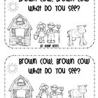 Brown Cow, Brown Cow, What Do You See?  This is a 12 page emergent reader.  It is great for teaching literacy, vocabulary words, and color words! ...