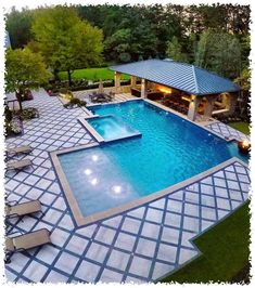 51 Hottest Swimming Pool Design Ideas For Your Beautiful Home These wonderful pool design ideas will change your yard right into an exterior oasis. Obtain swimming pool ideas from countless photos, insightful posts and also videos concerning swimming pool Backyard Pool Designs, Swimming Pools Backyard, Swimming Pool Designs, Pool Decks, Backyard Patio, Outdoor Pool, Backyard Landscaping, Landscaping Ideas, Backyard With Pool
