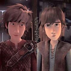 I love the similarities between younger Hiccup and older Hiccup. :)