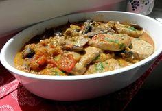17 szaftos-ropogós-omlós húsos fogás, 17 tökéletes ebédötlet! Hungarian Recipes, Hungarian Food, Vitamins, Protein, Meat, Chicken, Box, Red Peppers, Snare Drum