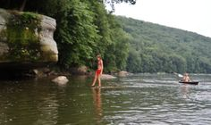 Walking on water - Allegheny River - photo by Paul Downing