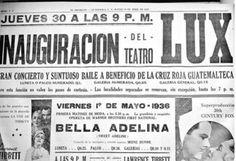 Inauguración del Teatro Lux, 1936.