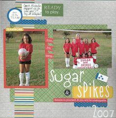Sugar & Spikes Volleyball - Scrapbook.com  Bella Blvd Making the Team Collection