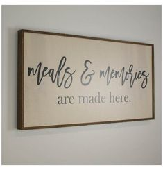Home Decor Living Room Meals & Memories Are Made Here Kitchen Decor Farmhouse Decor Family Kitchen Sign Large Kitchen S.Home Decor Living Room Meals & Memories Are Made Here Kitchen Decor Farmhouse Decor Family Kitchen Sign Large Kitchen S Country Farmhouse Decor, Farmhouse Kitchen Decor, Home Decor Kitchen, Diy Home Decor, Kitchen Design, Modern Farmhouse, Kitchen Dinning, Southern Kitchen Decor, Country Wood Signs