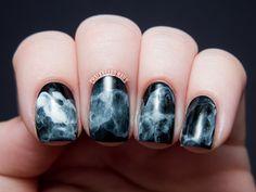 Black and white smoke nails #manicure #nails #nailart #how-to #diy -