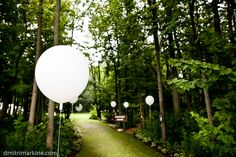 The aisle we walked down. Decorated with lighted balloons.  #weddings, #outdoor wedding, #balloons, #whimsical  http://www.teardropweddings.com