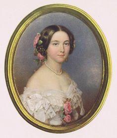 Emanuel Thomas PETER (1799-1873). Portrait of Julie Louis von Hemely.