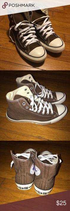71385227d16e Converse all star high Brown. Chucks Brown converse all star Chuck Taylor size  Converse Shoes Sneakers