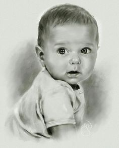 Drawing Pencil Portraits - babycharcoalweb - pencil portrait - colored pencil drawing - realistic baby drawings - kid - children Discover The Secrets Of Drawing Realistic Pencil Portraits Pencil Drawing Tutorials, Pencil Art Drawings, Realistic Drawings, Drawing Sketches, Pencil Sketching, Horse Drawings, Drawing Art, Baby Face Drawing, Drawing For Kids