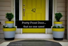 East Coast Creative: Garage Mudroom Makeover {For the REAL Family} A few springs ago I gave my front porch a face lift. I love the door, the tiered planters, (I did a southwest version too) the house numbers… I love it all! BUT… no one ever comes thro… Plastic Planters, Diy Planters, Planter Ideas, Outdoor Projects, Home Projects, Outdoor Decor, Outdoor Living, Backyard Projects, Crafty Projects