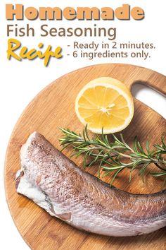 Fish Seasoning Recipe, Hamburger Seasoning, Fajita Seasoning Mix, Homemade Fajita Seasoning, Salmon Seasoning, Homemade Seasonings, Quick Fish, Homemade Hamburgers, Convenience Food