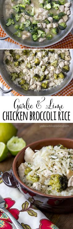 One Pot Lime Chicken & Broccoli Rice (we added extra lime juice and parmesan cheese when we served this and it was delicious!)