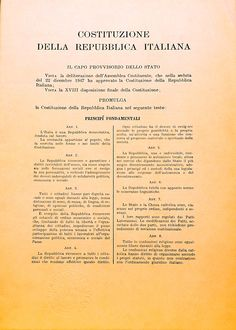 Costituzione della Repubblica Italiana (eclettica volume#07)