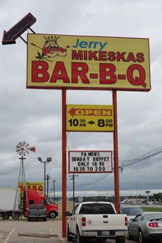 #Jerry Mikeskas Bar-B-Q....Columbus Texas  #Travel Texas USA multicityworldtravel.com We cover the world over 220 countries, 26 languages and 120 currencies Hotel and Flight deals.guarantee the best price