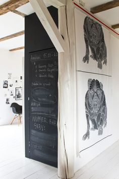 blackboard wall in Scandinavian style interior