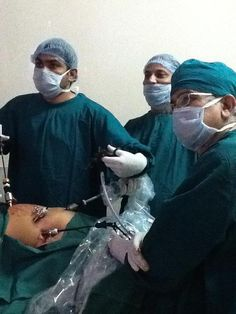 The surgical team, performing a surgery. — with Rajeshkumar Shrivastava.