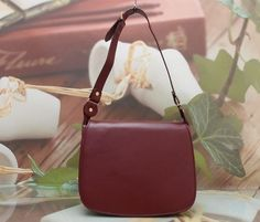 AUTHENTIC CARTIER RUBY LINE RED WINE SHOULDER BAG #Cartier #ShoulderBag