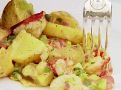 Lobster & Potato Salad recipe from Ina Garten via Food Network