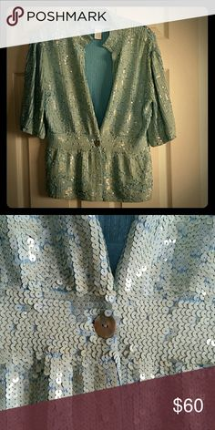Sweater sequin jacket All sequin one button sweater jacket Urchin Jackets & Coats