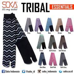 Essentials Tribal by Soka  Material : Spandek Nylon  #soka #socks #kaoskakisoka #sokasocks #essentials #tribal #style #fashion #colors