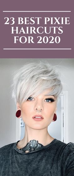 23 Best Pixie Haircuts for 2020 Long Pixie Hairstyles Haircuts Pixie - frisuren Pixie Haircut Styles, Longer Pixie Haircut, Long Pixie Hairstyles, Short Pixie Haircuts, Curly Hair Styles, Cool Hairstyles, Messy Pixie Haircut, Hairstyle Ideas, Shaggy Pixie Cuts