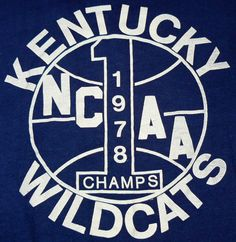Kentucky Wildcats NCAA Champs in 1978
