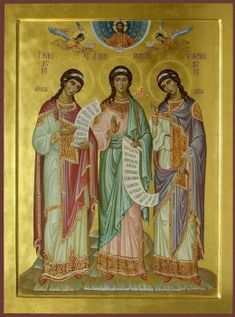 Science of the Saints, Sep.), The Holy Martyrs Menodora, Metrodora, And Nymphodora The Holy Mountain, Pagan Gods, Prayers For Healing, Byzantine Icons, Selling Art, Holi, Christianity, Saints, Science