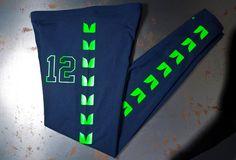 Love these Seattle Seahawks LEGGINGS  Womens legging pants Seahawk Clothing by SeaSlope, $40.00