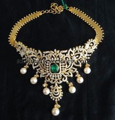 Jewellery Designs: Diamond Necklace Below 7 Lakhs