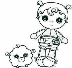 lalaloopsy tuffet miss muffet coloring page coloring pages pinterest lalaloopsy and patterns - Lalaloopsy Coloring Pages