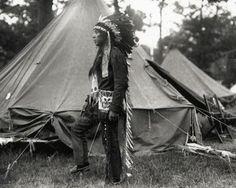 William Neptune at Deering Oaks Park in Portland, Maine - Passamaquoddy – 1920