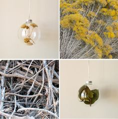 nature-inspired holiday bulbs