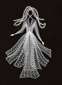 cm x 20 cm) Bobbin Lace Patterns, Crochet Patterns, Lace Art, Lacemaking, Lace Jewelry, Crochet Diagram, Weaving Art, String Art, Lace Detail